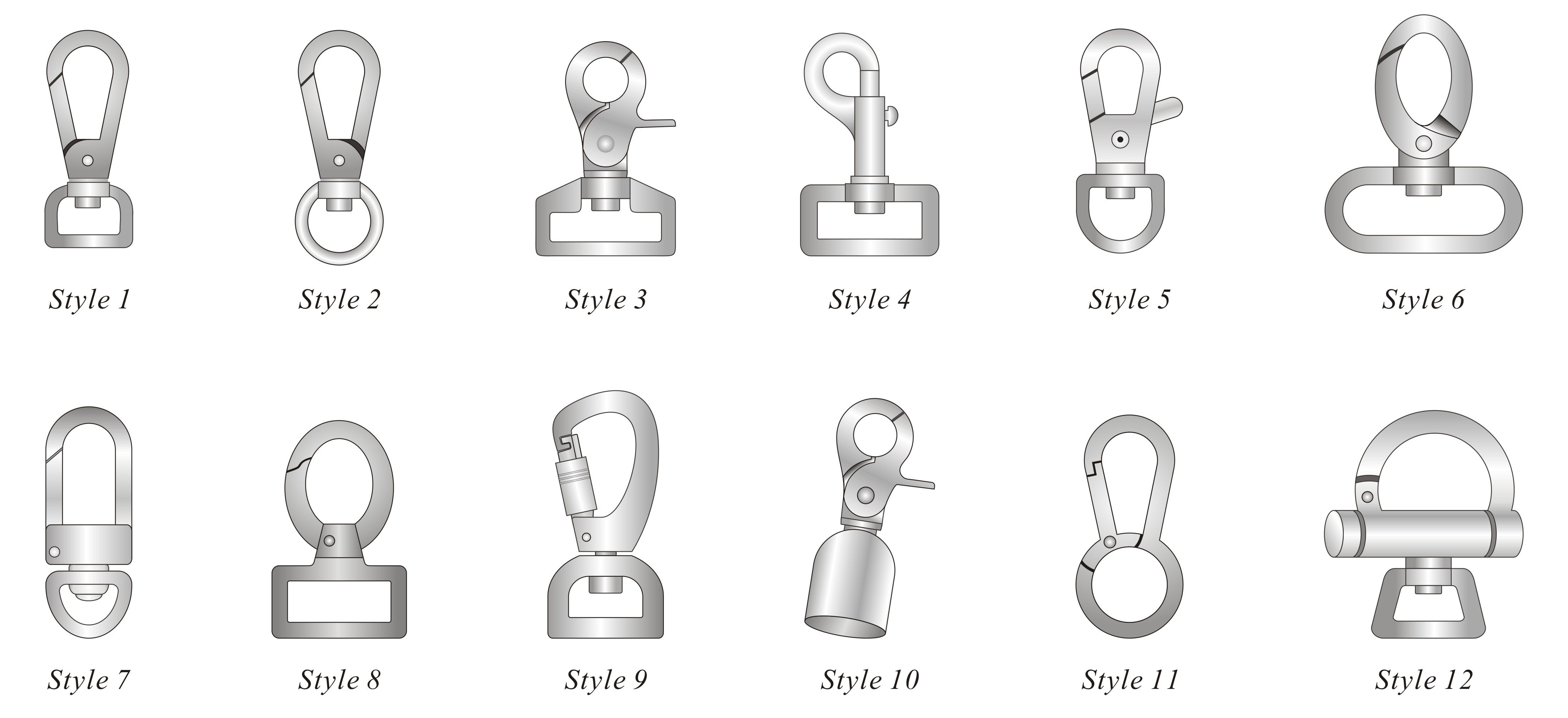 All Maya Metal Bag Hooks And Swivels Are Lacquer Coated For Lasting Function Integrity