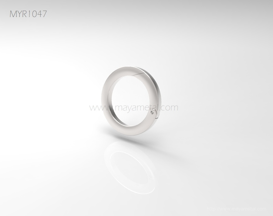 Best Quality Zinc Alloy Spring Flat O Rings for leather bags