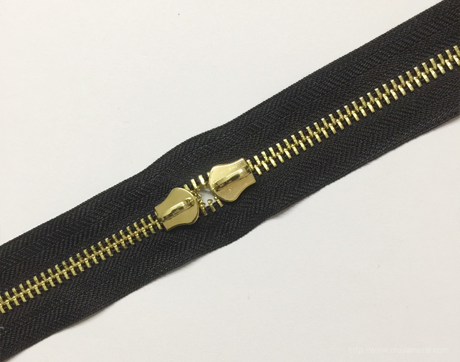 Black Zipper For Leather Bags